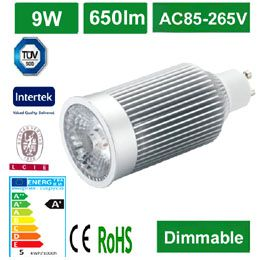 COB LED 9W GU10 Spotlight